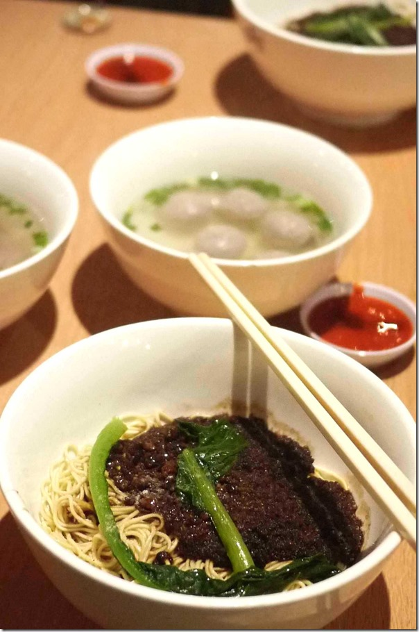 Soong Kee's famous beef ball noodles