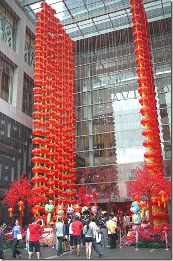 Chinese New Year decorations at Pavilion, Kuala Lumpur