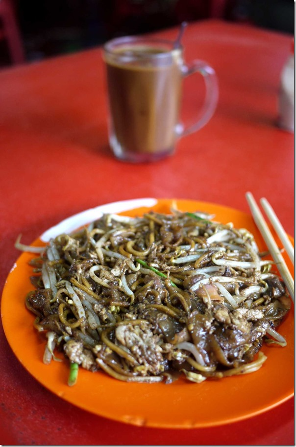 KL style char kway teow with cockles RM4 or A$1.25