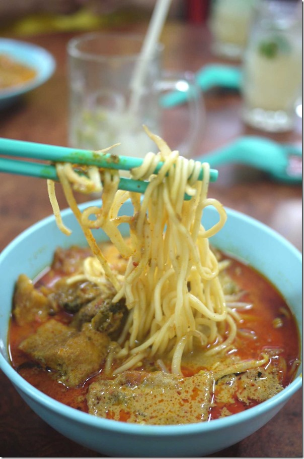 Curry laksa with chicken and cockles RM4 or A$1.25