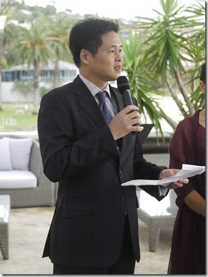 Vincent Lim delivering a passage by Wilferd Arlan Peterson