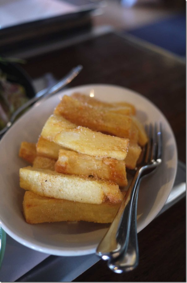 Flying Fish hand cut chips with chilli salt $14