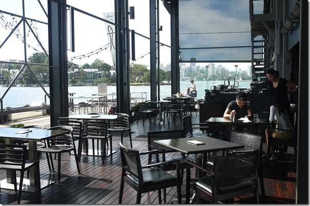 Al fresco dining at Flying Fish, Pyrmont
