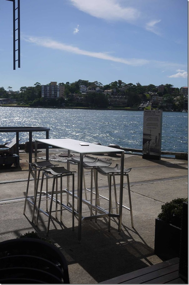 A table with a spectacular view of Sydney harbour