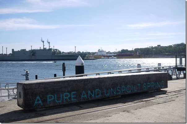 "Jones Bay Wharf, Pyrmont ~ ""A pure and unspoiled spring"""