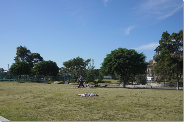 Picnic on Pirrama park at Jones Bay Wharf