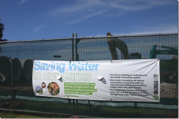 Saving Water in our parks