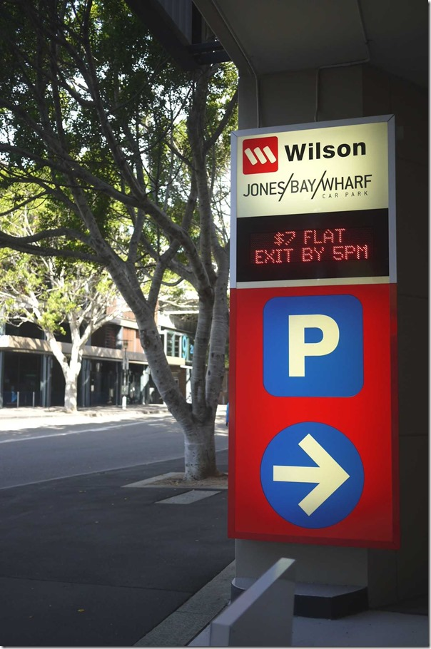 $7 flat rate parking at Jones Bay Wharf
