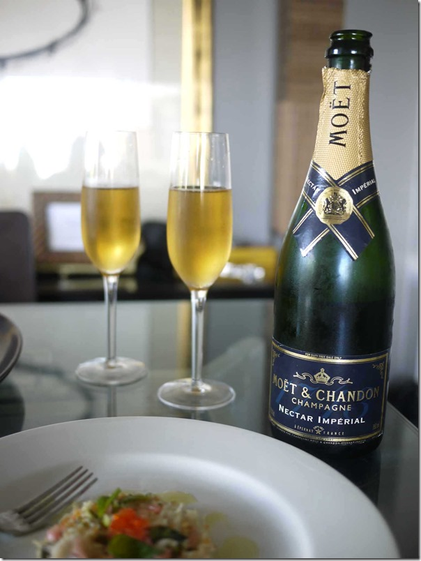 An aged Moet & Chandon Nectar Imperial