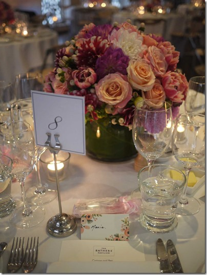 Table setting for the wedding banquet