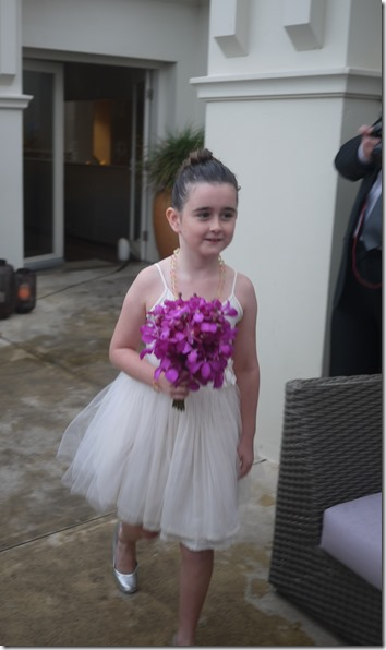Flower girl Mackenzie Cole