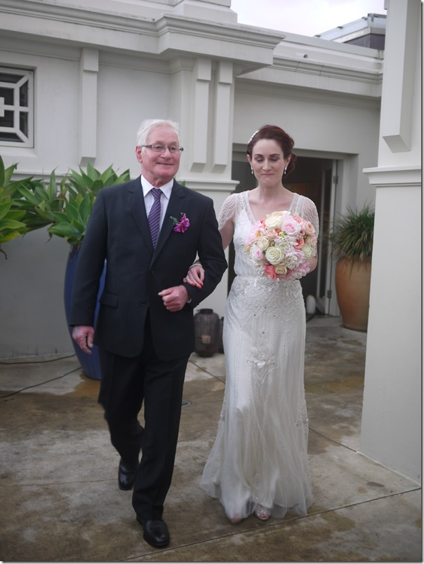 Corinne with her father, John Walker