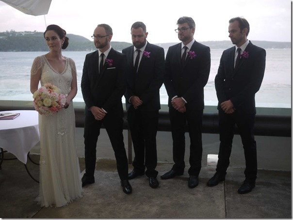Corrine & Ben with groomsmen David Naftzger, Jason Lee & Stephen De Pretre