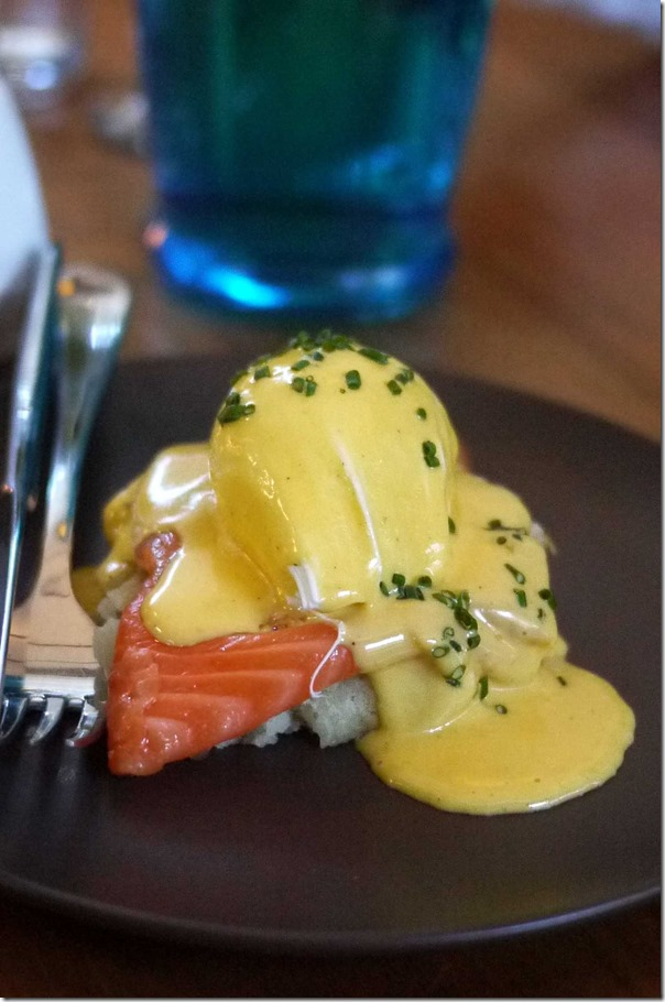 House Cured Smoked Salmon Benedict (Tasting portion), Regular price $17