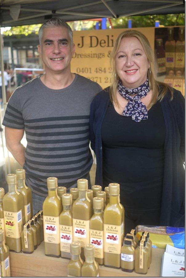 Jim Carter and Loretta Ribaudo of L & J Delicious