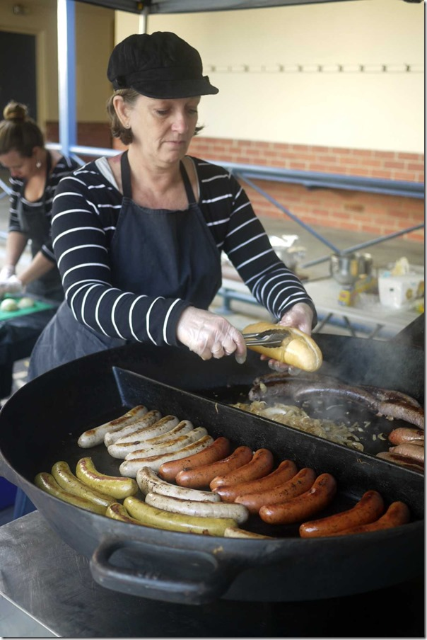 The good old sausage sizzle!