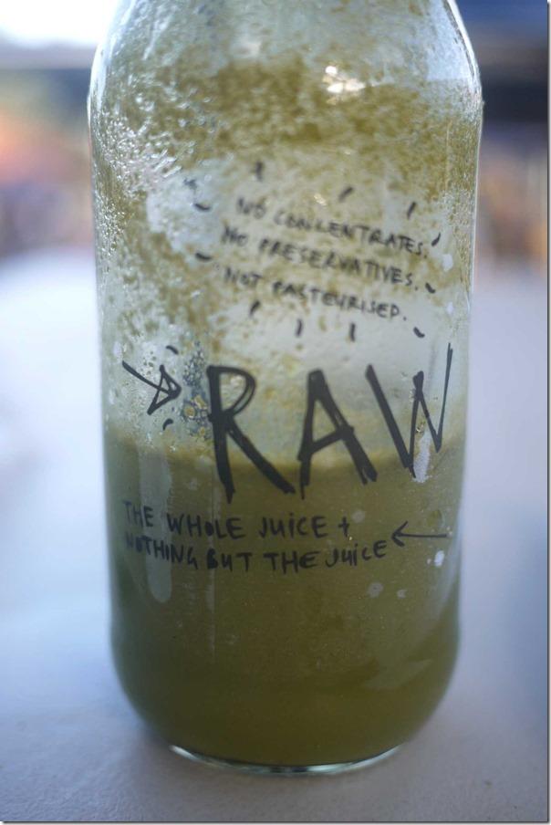 RAW ginger, wheatgrass and lemon juice $4.50