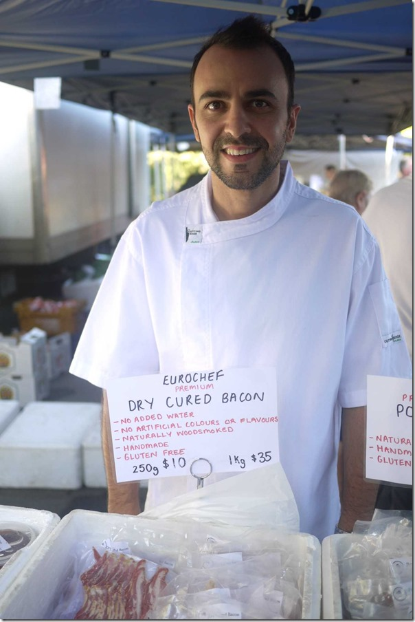 Michael Lardis of Eurochef Catering and his signature bacon