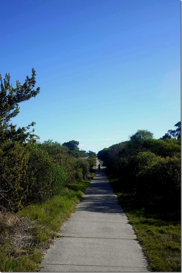 Biking trail along West Coast Highway