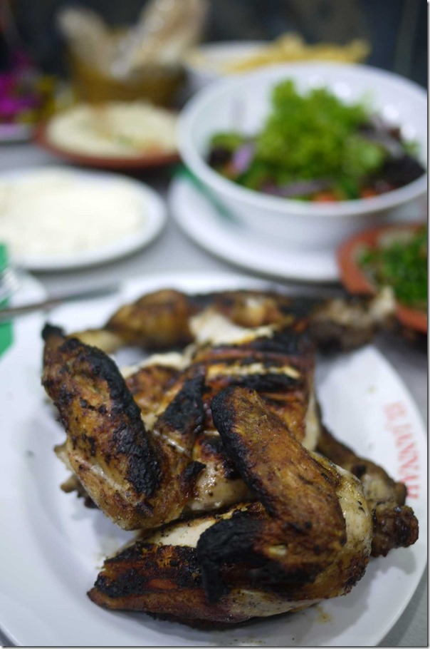 El Jannah charcoal chicken - chicken wings ($19.90 for whole chicken)