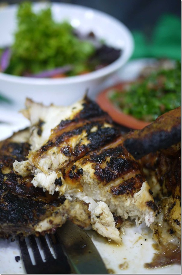 El Jannah charcoal chicken - breast meat ($19.90 for whole chicken)