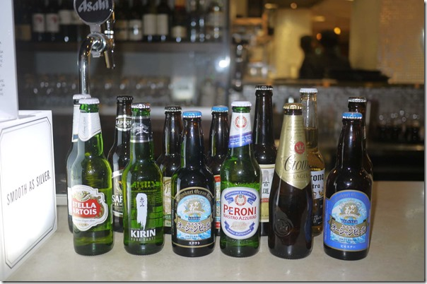 Selection of local and imported beers, Sushia Izakaya & Bar, Sydney