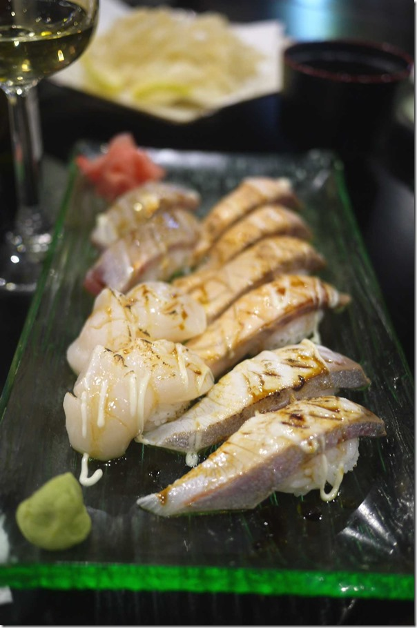 Grilled sushi set $22