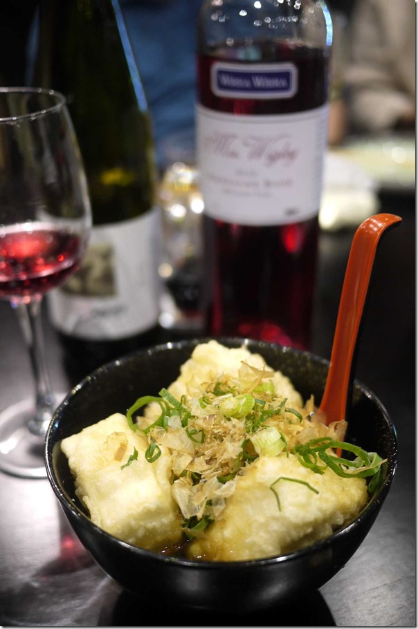 Agedashi tofu $8.50