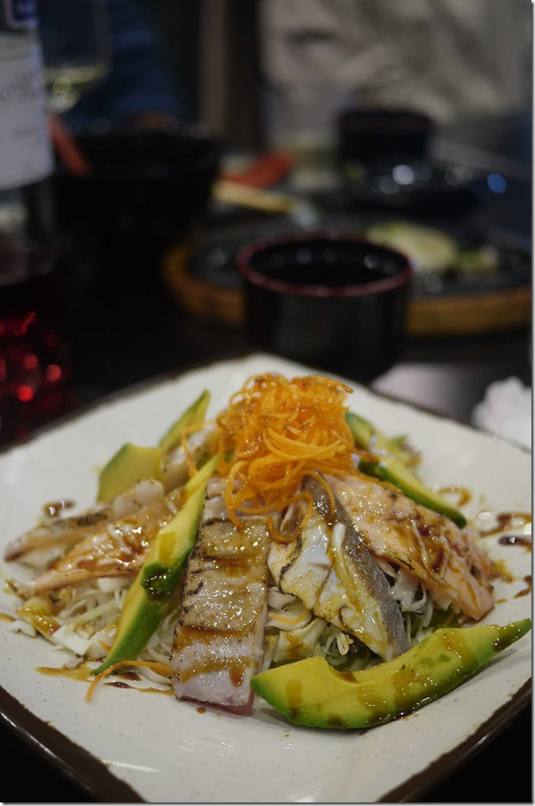 Grilled fish salad $13.50