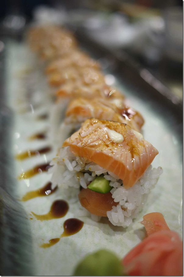 Grilled salmon roll $15