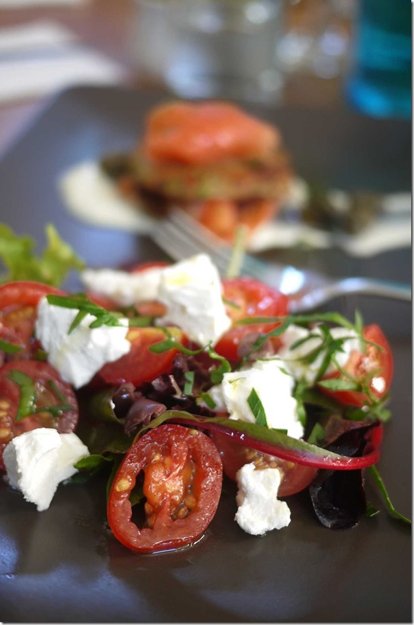 Goat's Cheese and Tomato Salad (Tasting portion), Regular price $14
