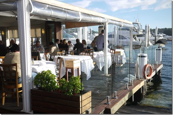 Dining by Sydney harbour, Ormeggio at The Spit, Mosman