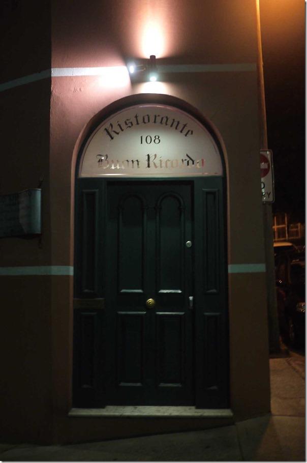 Ristorante Buon Ricordo, Paddington