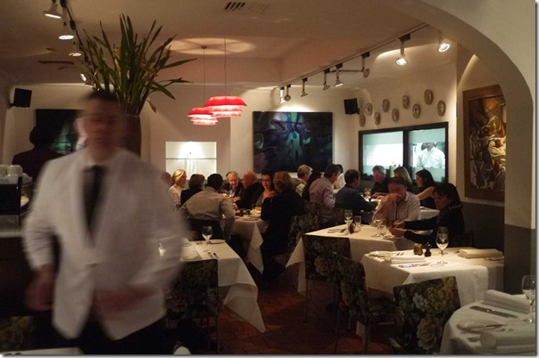Dining room on the ground level at Buon Ricordo, Paddington
