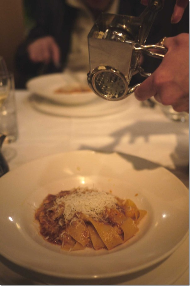 Pappardelle with pork and beef ragu $42.50