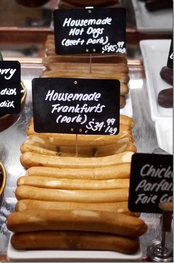 Housemade pork Frankfurts $34.99/kg