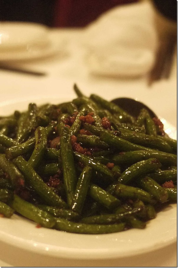 Stir fried snake beans with mince pork $24.80