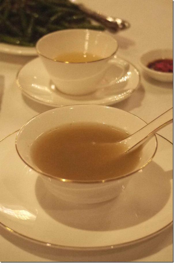 Complimentary pork rib soup