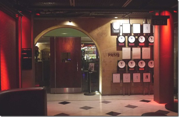 Entrance to Prime Steak Restaurant, Sydney