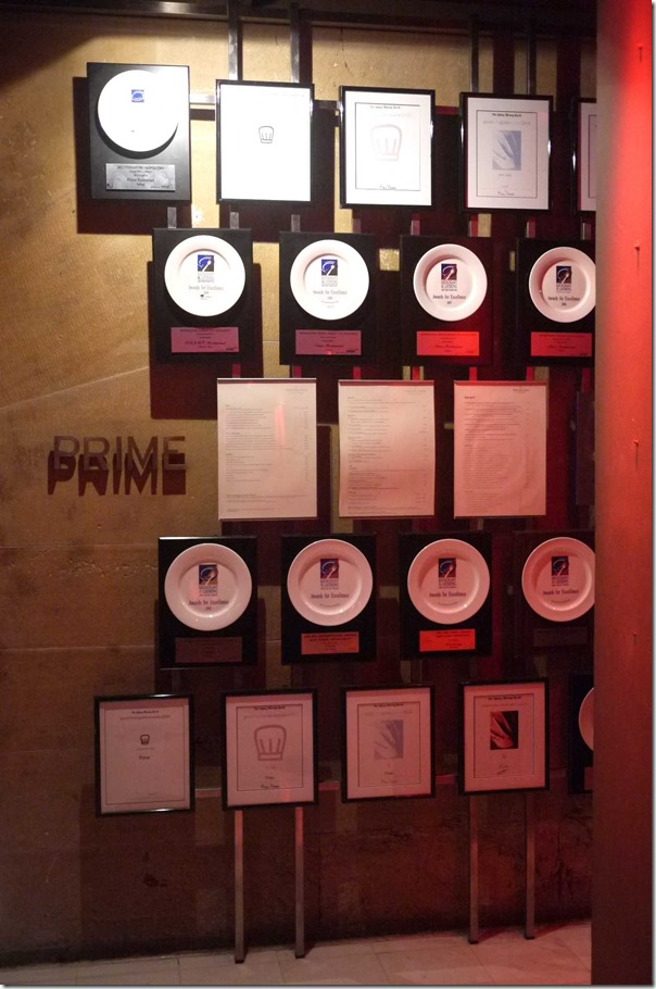 Accolades and awards - Prime Steak Restaurant, Sydney