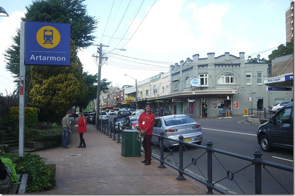 Train station, shops, cafes and restaurants along Hampden road, Artarmon