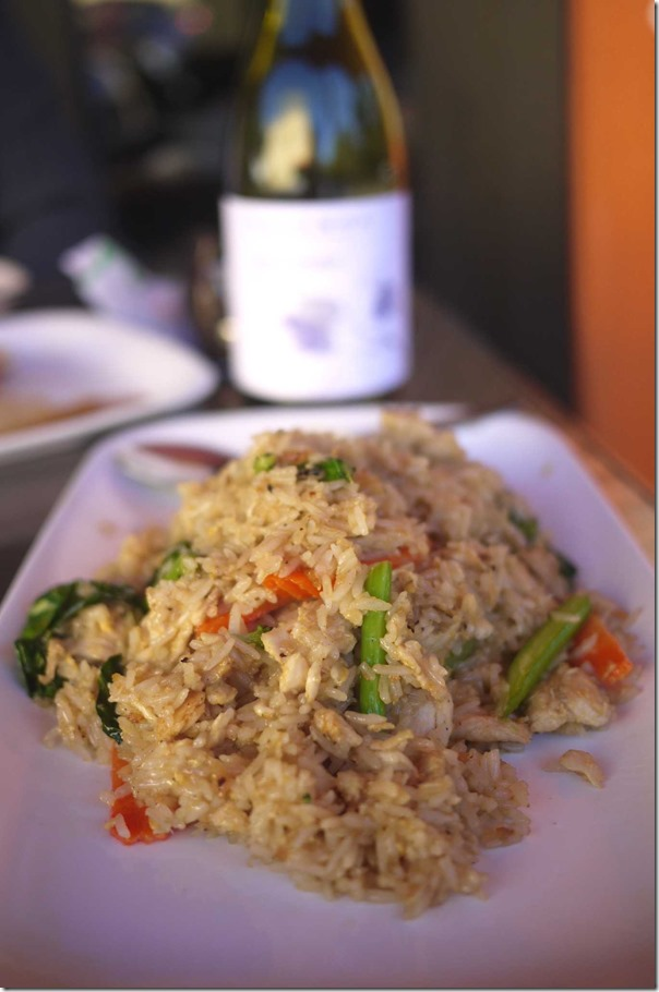 Thai style fried rice with chicken at The Thai $9.95