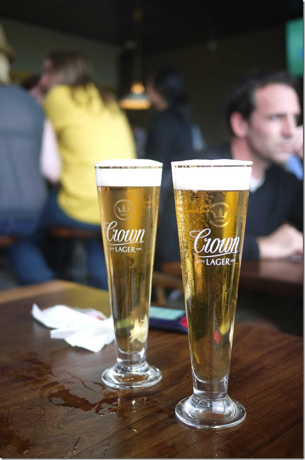 Crown lager $7.50 each