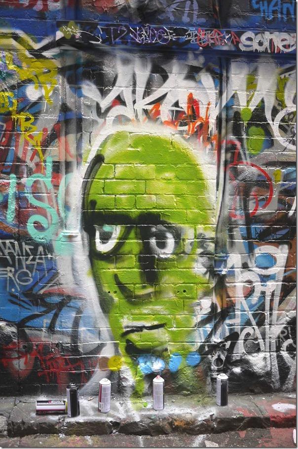 Graffiti and street art at Hosier Lane (off Flinders street), Melbourne
