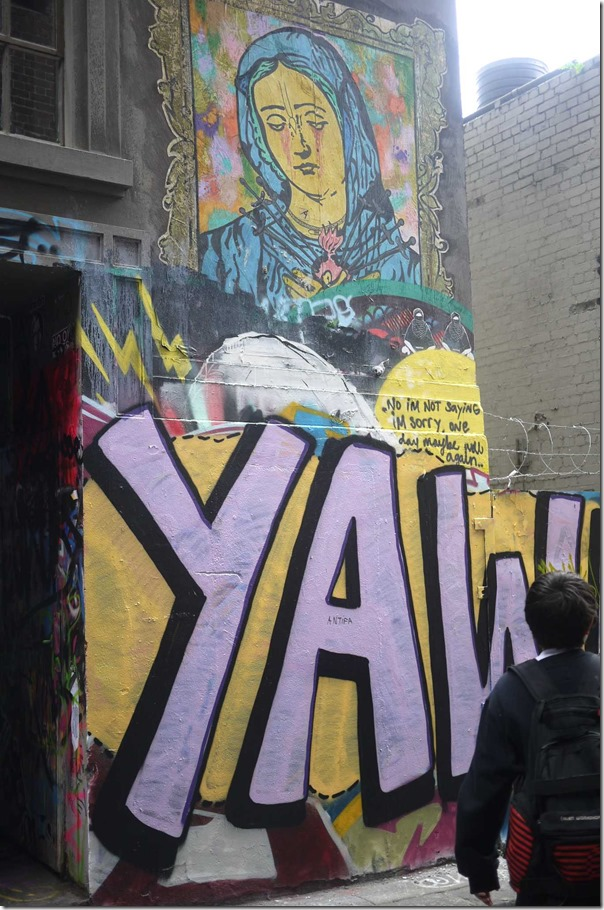 Graffiti and street art at Hosier Lane (off Flinders street), Melbourne