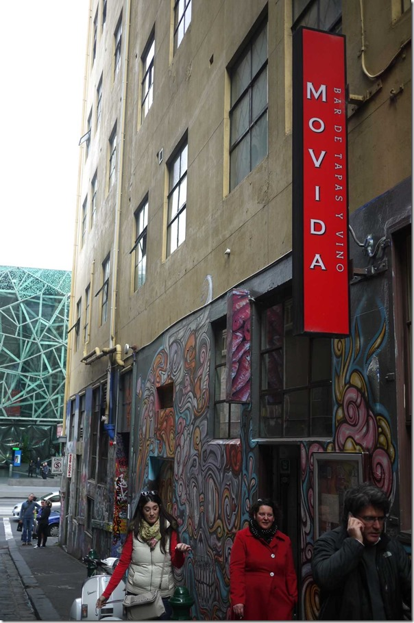 MoVida at 1 Hosier Lane (off Flinders Street), Melbourne