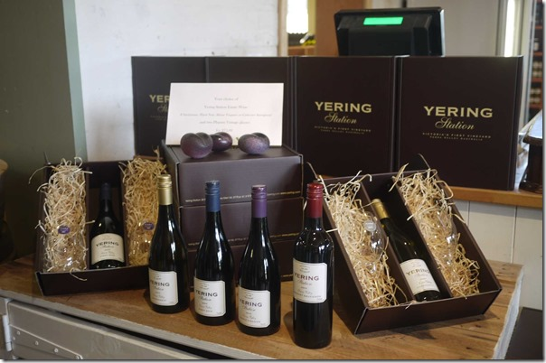 Selection of wines from Yering Station, Yarra Valley