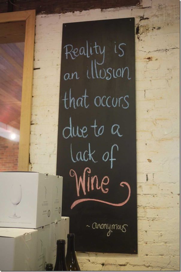 Words of wisdom at Yering Station winery, Yarra Valley