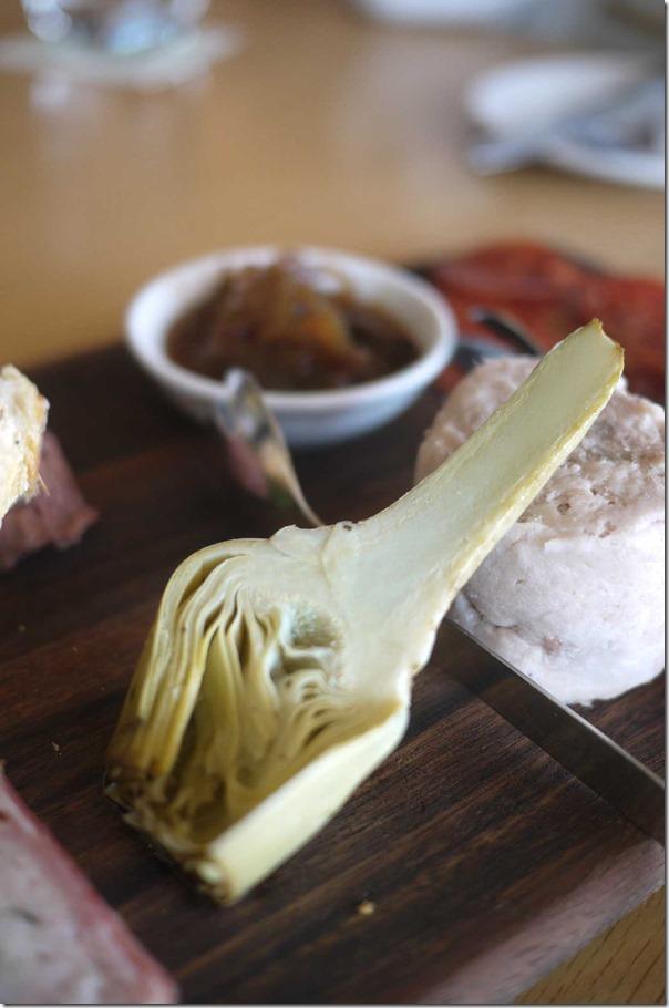 Artichoke on Charcuterie Platter
