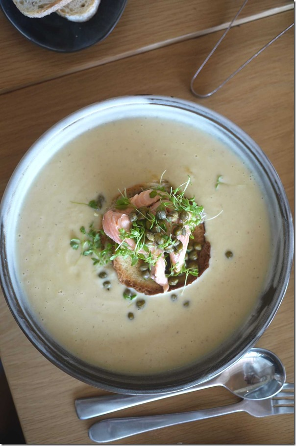 Cauliflower and smoked trout soup $18